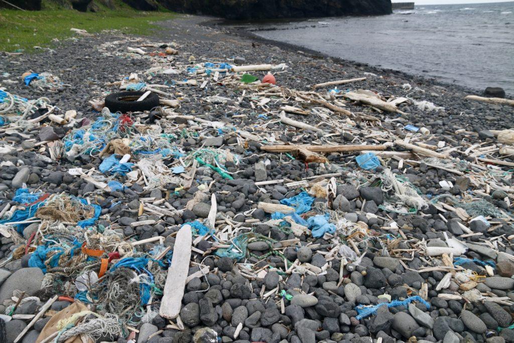海のゴミの写真